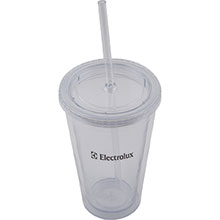 (16 oz.) Plastic Tumbler with Straw