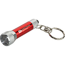Homestead Metal Flashlight with Key Tag
