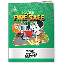 Activity Book w/ Fun Stickers - Staying Fire Safe at Home