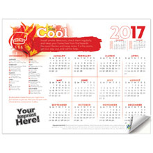Adhesive Wall Calendar - 2017 Stay Cool (Fire Safety)