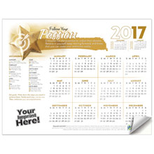 Adhesive Wall Calendar - 2017 Follow Your Passion (Motivational)